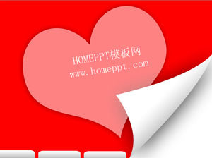 Red love background love PPT template download