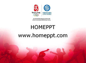 Red-olympisches Thema PPT-Vorlage