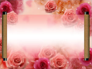 Red Rose Background Love PPT Background Template