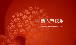Red Rose Background Valentine's Day PPT Template