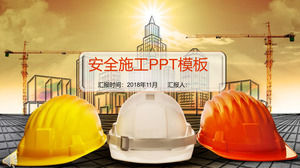 Safety construction safety production promotion theme PPT template