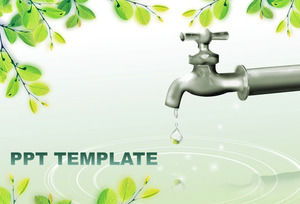 Save Water Psr Template Powerpoint Templates Free Download