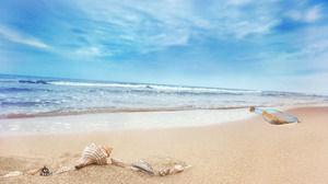 Sea beach background travel slideshow template download