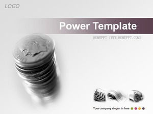 Silver background financial financial slides template download