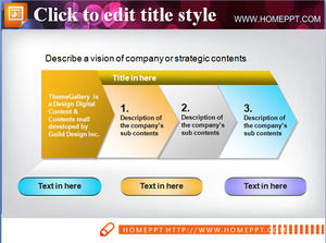 Simple and beautiful ppt flow chart template