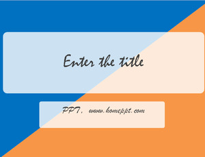 Simple And Simple Orange Blue Two Color Powerpoint Template
