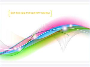 Simple Art Line PPT Background Image Download