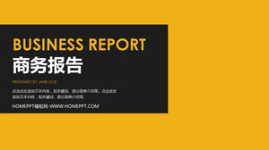 Simple business work report PPT template
