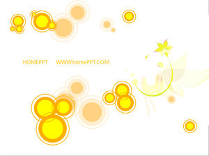 Simple Cartoon Circle Animation Art PPT Background Template