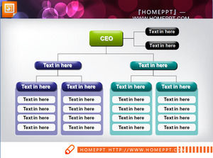 Simple corporate organization chart PPT chart material