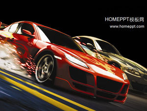 Sports Car Background Slide Template Download Powerpoint
