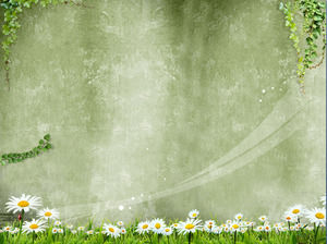 Spring melody PPT background image download