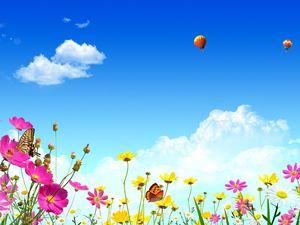 Spring Natural Landscape PPT Background Picture