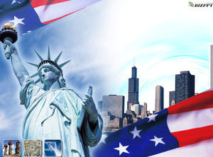 Statue of Liberty - USA travel industry PPT template