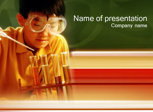 Students do chemical experiments ppt template