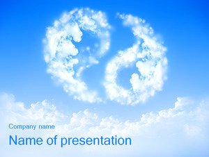 Tai Chi shape of the white clouds background of the natural scenery PPT template free download;