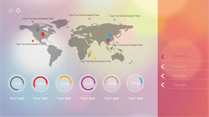 The business background of the business background of the pink world map