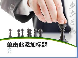 o fundo de xadrez de slides negócio de download template powerpoint
