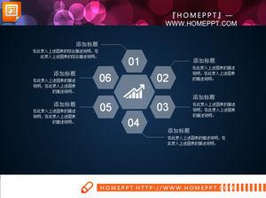 Durchlässiger Stil Firmenprofil PPT-Chart PowerPoint Vorlagen ...