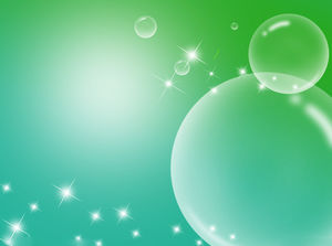 Transparent blisters starry water grass PPT background picture