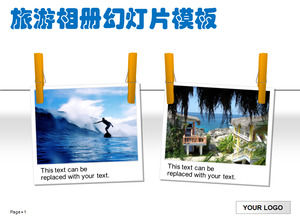 Travel albums PPT template download