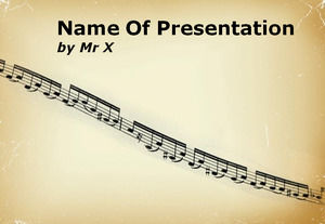 Two sets of music theme ppt template