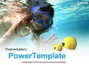 Underwater World Nature Powerpoint Templates