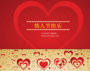 Valentine 's Day Happy PPT Template Download