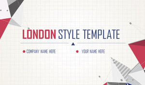 Vintage England color matching polygon background PPT template