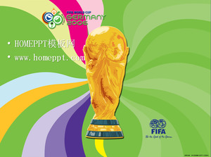 Viva Cup background fifa World Cup PPT template download