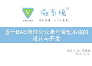 WeChat Public Number Market Analysis Design And Development Introduced Ppt Template