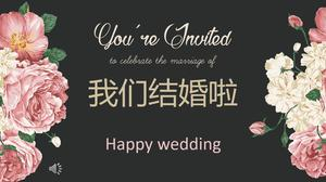Wedding flash special effects animation PPT template