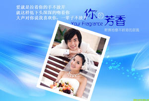 Wedding photo background PPT template download