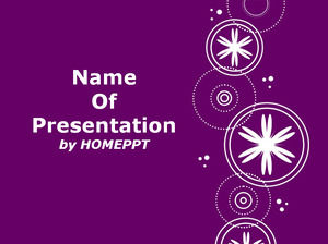 White Snowflakes Over Purple Background Powerpoint Template