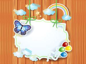 Woody background white border PPT background image
