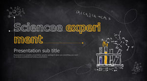 Yellow blackboard chalk hand-painted science chemistry experiment PPT courseware template