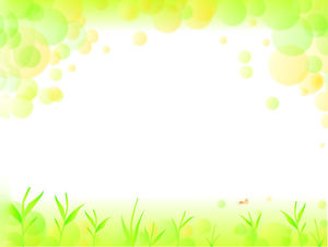 Yellow Green Abstract Grass Elegant PPT Background Image